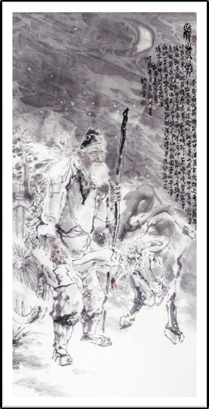 6 张翔洲  卖炭翁  140x70cm 纸本设色 2017年.jpg